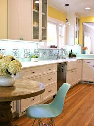 Yellow Wall Kitchen Kitchen Fair Blue And Yellow Kitchen Decoration Using Mounted Wall