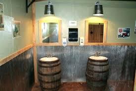 whiskey barrel sink copper vanity bathroom