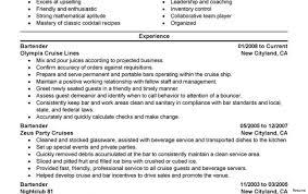 Sample Bartender Resume Fresh Idea Bartending Resumes 100 Resume Examples Best Bartender 65