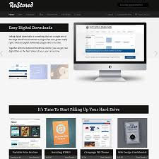 Theme Downloads Restored Wordpress Digital Download Ecommerce Theme