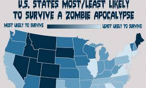 Zombie Survival Chart Will Your State Survive A Zombie Apocalypse New York Will