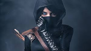 Black Ninja Girl Wallpaper