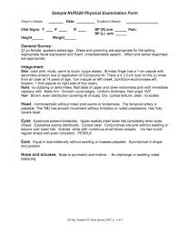 Physical Assessment Form Mesmerizing 44 Physical Exam Templates Forms [Male Female]