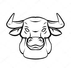 Býčí Hlava Tetování Vektorové Ilustrace Stock Vektor