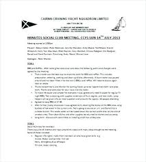 Club Bylaws Template Club Meeting Minutes Templates 9 Free Sample