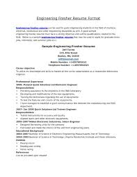 what should be the career objective in resume for freshers sample resume format for freshers engineers granitestateartsmarket com