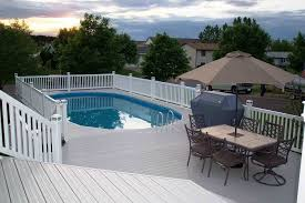 rectangle above ground swimming pool. Image Of Above Ground Swimming Pools With Decks Design Rectangle Pool