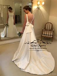 Wedding Dress Plus Size Chart Sexy Backless Plus Size Mermaid Wedding Dresses 2019 Cheap Long White Satin Knot Bow Greek Arabic Country Beach Wedding Bridal Gowns