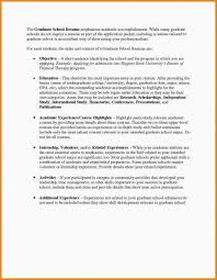 Resume For Graduate School Admission Cool ♑ 48 Resume For Masters Application