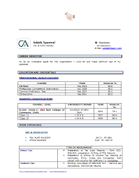Chartered Accountant Resumes Resume Format Free Download For Accountant
