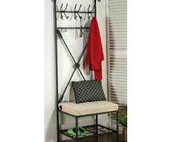 Metal Entryway Storage Bench With Coat Rack Impressive Black Entryway Storage Bench Black Storage Bench 32birchst