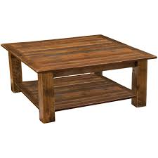 black forest decor barnwood open coffee table with open shelf 42 x 42