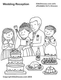 Free Wedding Coloring Pages To Print Wedding Reception Coloring Page