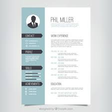 Elegant Resume Templates New Elegant Resume Template Vector Free Download