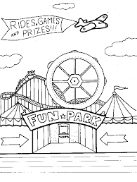 Kids Carnival Games Coloring Pages