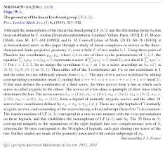 the galois tesseract w l edge on the geometry of the projective 3 space over gf 2