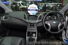 2015 hyundai elantra interior. hyundai elantra facelift dashboard at the 2014 thailand international motor expo 2015 interior