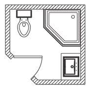 small bathroom floor plans shower only. Simple Small Bathroom Floor Plan Ideas With Corner Shower, Laundry And Toilet - Room Decorating Plans Shower Only