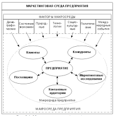 Маркетинговая среда фирмы внутренняя и внешняя макросреда и  Структура анализа маркетинговой среды