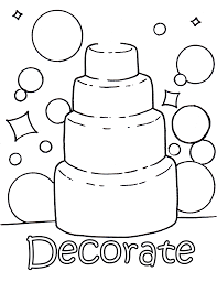 Small Picture Decorate Your Own Wedding Cake Colouring Page Wedding
