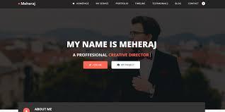 Meheraj Personal Portfolio And Resume Template