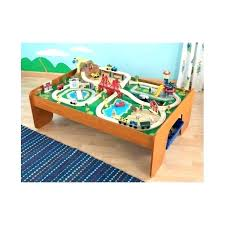 kidkraft train table with drawers round table and chairs ride around train set and table ride around town train set table round designs table and chair set