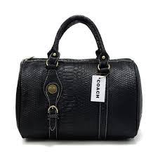 Coach Embossed Medium Black Luggage Bags DEE