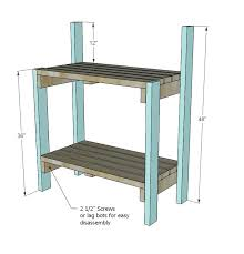 potting table plan garden potting table diy potting table