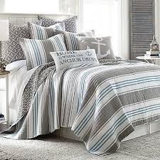 Coastal Bedding - Bed Bath & Beyond & image of Provincetown Reversible Quilt in Grey Adamdwight.com