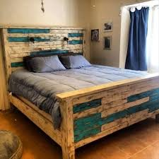 rustic pallet queen size bed frame