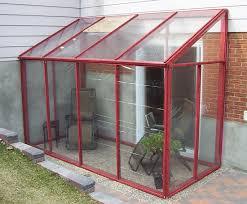 DIY temporary sun room ... with plastic shower curtain