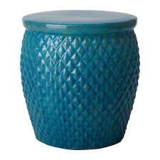 turquoise garden stool. Simple Garden Pineapple Garden Stool With Turquoise Glaze In G