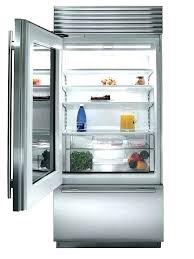 glass door refrigerator residential