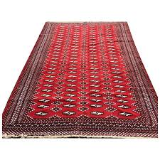 4x6 red persian rug hand knotted iran antique wool handmade bokara caucasian oriental wovne made carpet