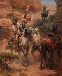 andy thomas gut shot cowboy horse cowboy artworkwestern artistscowboy horsecowboyspainting