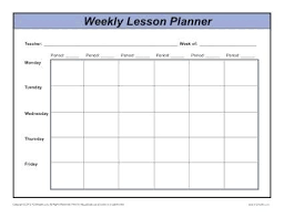 Lesson Plans Formats Elementary Lesson Plan Format For Elementary Teachers Weekly Multi Period