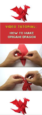 how to make red origami dragon video tutorial More More