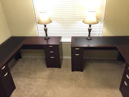 home office l shaped desks. his and hers home office two lshaped desk from depot turned l shaped desks