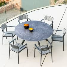 ceramic 6 seat round garden table set