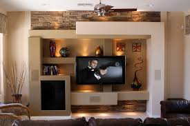 Small Picture Custom media wall family room contemporary with entertainment
