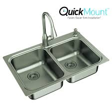 Moen Kelsa 22 In X 33 In Stainless Steel Double Basin Drop In Or