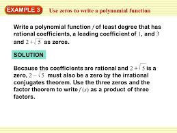 Warm-Up Exercises 1. What is the degree of f (x) = 8x 6 – 4x 5 + ...