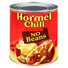 chili can.  Can Intended Chili Can