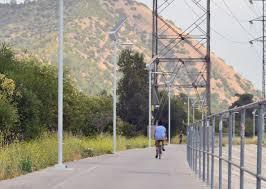 solar led lighting cuts down la bike path vandalism