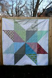 Giant Star Quilts - Hopeful Homemaker & My favorite element in both quilts is the quilting. Again, I did straight  line quilting. My lines are unevenly spaced but all form a V moving from  the edge ... Adamdwight.com