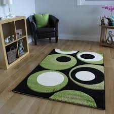 lime green area rug combine
