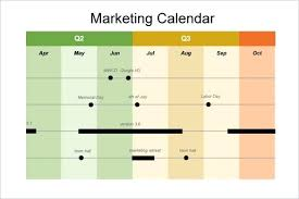 Marketing Event Calendar Template Generic Plan Free Resume