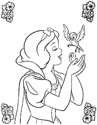 Snow White Coloring Sheets Snow White Coloring Pages Snow White And
