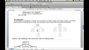 Hierarchy Chart Pseudocode Structure Chart To Pseudo Code Sequence