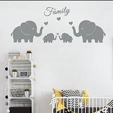 elephant twin nursery wall art
